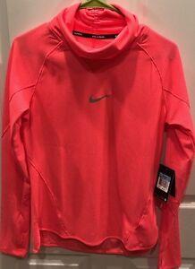 Nike Womens Aeroreact Cowl Dri-Fit Running Shirt Top 686955-671 Medium $110 NWT
