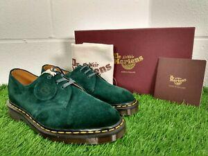 Dr Martens 1461 Brushed Green Desert Suede Shoes Doc UK 7 EU 41 Made In England