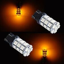7443 7440 W21/5W T20 30 SMD Yellow  Stop Tail Brake Signal LED Car Light Bulb 2x