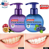 Intensive Stain Removal Teeth Whitening Toothpaste Fight Bleeding Gums 220g USA
