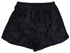 Black Nylon Running Track Shorts by Don Alleson Men's XL