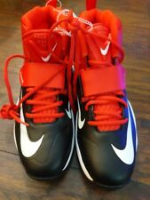 Nike Flywire Mens Lineman Football Cleats Red White 603350-016 Size 10.5 New