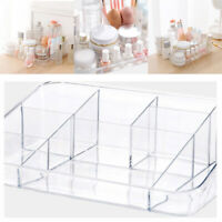 Clear Acrylic Cosmetic Organizer Makeup Jewelry Ring Case Storage Box Holder