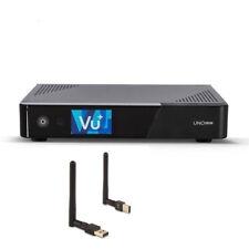 VU+ UNO 4K SE 1X DVB-S2 FBC TWIN TUNER PVR LINUX SAT RECEIVER UHD + WLAN Stick