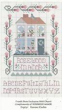 Rosewood Manor Cross Stitch Chart