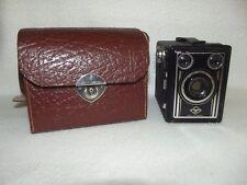 Alter Fotoapparat - Agfa Box mit Tasche aus Leder