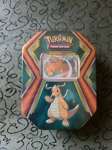 Pokémon Tcg Dragonite Tin Sealed 3 Booster Packs Inside, New Free Shipping