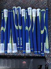 13 Brand New Golf Pride NIION Blue (yellow Fill) Golf Grips Standard 60 Round