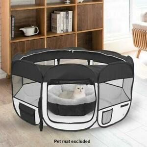 "36"" 600D Oxford Portable Pet Puppy Soft Tent Playpen Dog Cat Folding Crate Black"