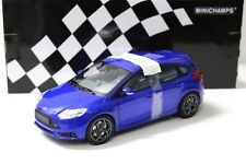 1:18 Minichamps Ford Focus ST 2011 Blue New en Premium-modelcars