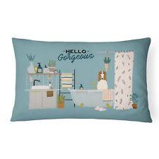 """Caroline's Treasures Bathtub Canvas Fabric Decorative Pillow Patio-Furniture."