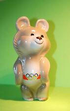 VINTAGE PORCELAIN FIGURE MASCOT MISHA BEAR XXII OLYMPIC GAMES MOSCOW 1980