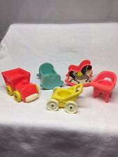 Fisher Price Little People Baby Crib Stroller Changing Table High Chair Train