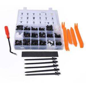 435Pcs 19Sizes Auto Door Panel Retainer Push Pin Trim Rivet Screw Clip Fasteners