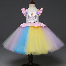 56c391a9f Flor Niño Niña Princesa Unicornio Boda Dama de Honor Fiesta Tul Tutú