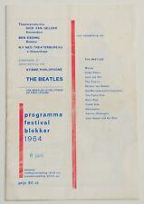 Beatles original rare vintage Concert Programme, Holland 1964, John Lennon Tour