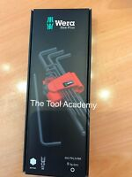 Wera Tools Hex Allen Key Set Extra Long 1.5mm - 10mm Boxed And Clip 950 PKL9 BM