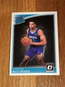 2018-19 Donruss Optic Miles Bridges Rated Rookie RC #172 Charlotte Hornets