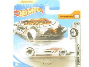 Hot Wheels X-Steam Super Chromes 88/365 FJX03 Short Card 1 64 Scale Sealed New