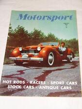 Motorsport (USA) Magazine February 1951 Vol 2 - No 2