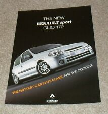 Renault Clio 172 Double Sided Brochure Flyer 1999