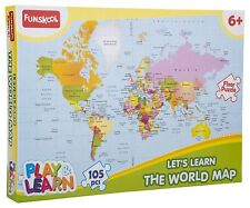 Funskool-Play & Learn World Map Puzzles(Multicolor),Jigsaw puzzle 6 years and up