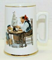 Vintage Norman Rockwell Museum Collection Mug For A Good Boy 1985 Coffee Cup