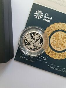 Royal Mint - 2016 Last Round Pound - LRP - Silver Proof One Pound £1 Coin