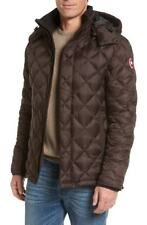 Canada Goose Hendriksen Quilted Down Coat Charred Wood Men's Puffer Size Medium