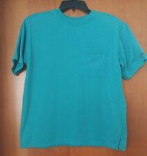 Vtg Middlebrook Park SS Poly/Cotton Teal T-Shirt w/ Embroidered Pocket Med EUC