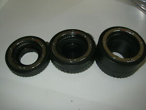 NIKON AF DIGITAL FIT AUTO EXTENTION TUBES 12,20,36 SET OF 3 MACRO, MICRO