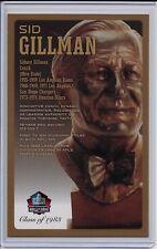 Sid Gillman Football HOF Bronze Bust Card 100/150