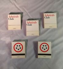 Lot of 5 American Airlines Admirals Club vintage Matchbooks MINT NEW