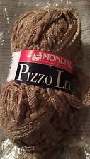 Mondial Pizzo Lux - Scarf/Shawl Yarn - One skein makes scarf -brown #0945 16 Sks