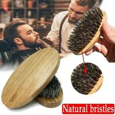Men Mens Beard Brush Boar Hair Bristle Mustache Palm Soft Round Wood Handle US Y