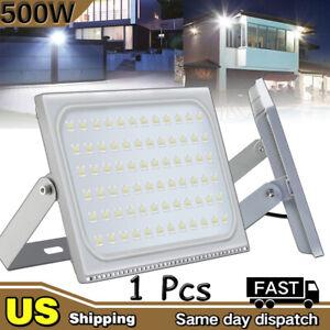 500W LED Flood light Cool White Arena Outdoor Garden Yard SpotLight IP65 AC 110V