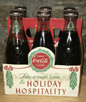 Vintage Coca-Cola Six Pack-Limited Christmas Edition-With Caddy Pat 1923