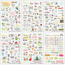 6 Sheets/Kit DIY Calendar Diary Book Sticker Scrapbook Decoration Planner Hot