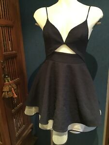 Women's Girls  DRESS Size 8 Angel biba. Near New. Navy Blue And White Shimmer