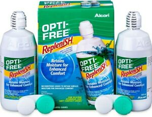 Opti-Free Replenish Contact Lens Solution 2 X 300ml