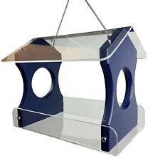Jcs Wildlife Recycled Poly Lumber Hanging Birdfeeder, Blue, 3030B