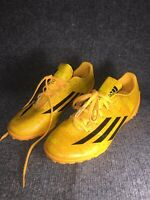 Adidas Mas Que Yellow Black Size 6.5 Boys Indoor Soccer Shoes Traxion Messi F10