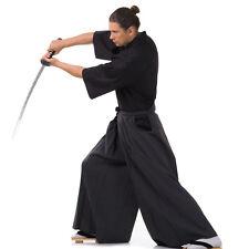 Japan Kendo Gi & Hakama Set Laido Aikido Samurai Kimono Set Schwarz M L XL