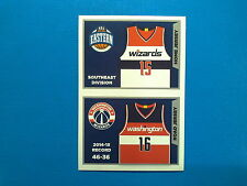 2015-16 Panini NBA Sticker Collection n.196-197 Jersey Washington Wizards