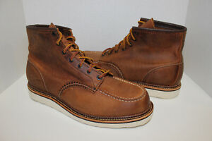 Red Wings Classic Moc Men's 6-inch Boot in Copper Rough & Tough Leather US 12 D