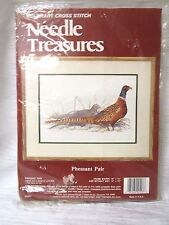 Cross Stitch Kit - Pheasant Pair - Needle Treasures #02553 - NIP, Lynn Bean 1982