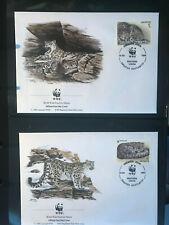Kirgistan 1994 Satz illustrierte Ersttagsbriefe WWF Schneeleopard