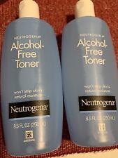 Lot of TWO Neutrogena Alcohol-Free Toner 8.5oz Free Shipping