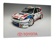 CARLOS SAINZ 16x12 pollici Canvas-TOYOTA COROLLA WRC RALLY foto incorniciata