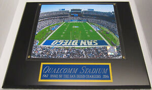 QUALCOMM STADIUM SAN DIEGO CHARGERS FRAMED 8X10 PHOTO-MAN CAVE-12X15 WALL PLAQUE